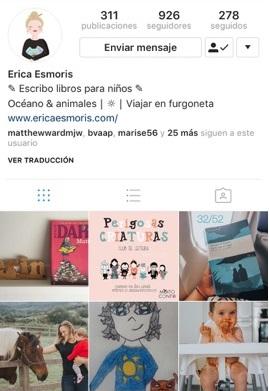 Instagram de Erica Esmoris